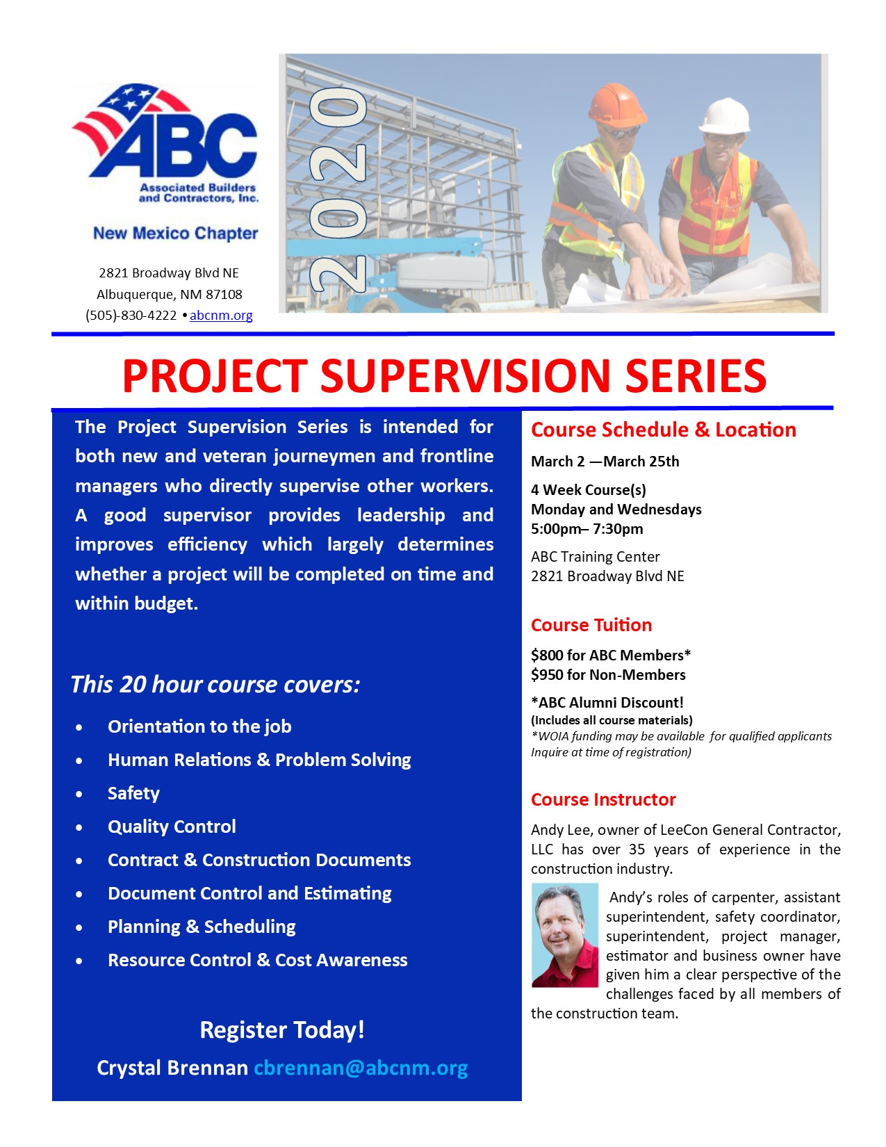 Project Supervision Series Course flyer for 2020 (1)pub