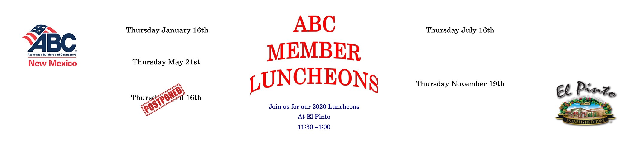 All Luncheons banner