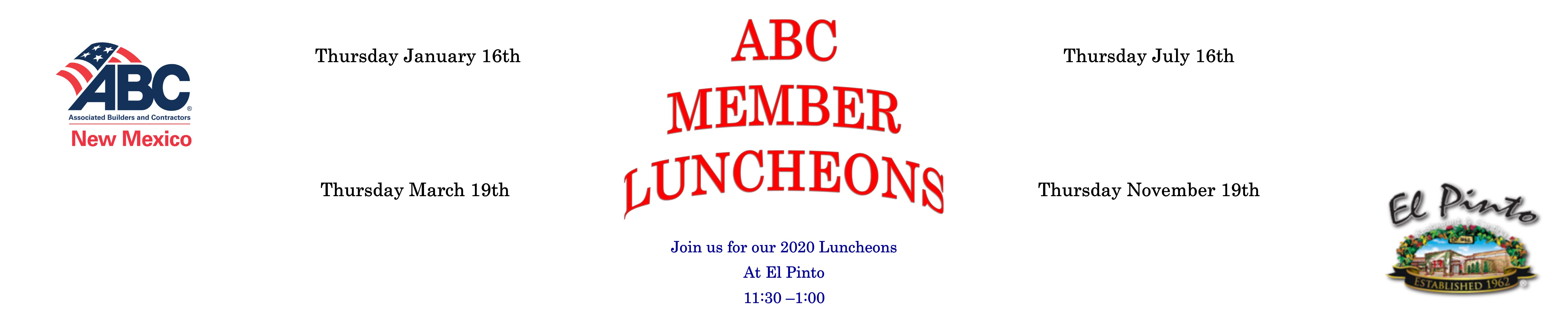 Luncheons Banner